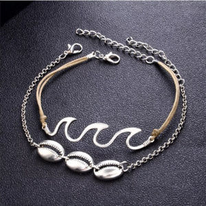 Shell Ocean Anklet Silver Wave Bracelet Trend Sexy